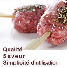 Saveur, qualité, simplicité d'utilisation des marinades